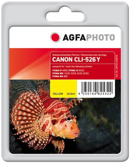 AGFAPHOTO Tintenpatrone kompatibel zu Canon CLI-526 Yellow