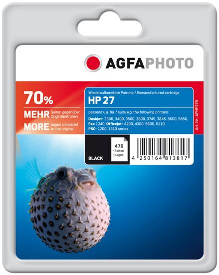 AGFAPHOTO Tintenpatrone kompatibel zu HP 27 / C8727A Black