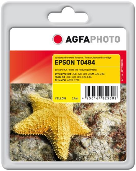 AGFAPHOTO Tintenpatrone kompatibel zu Epson T0484-C13T04844010 Yellow