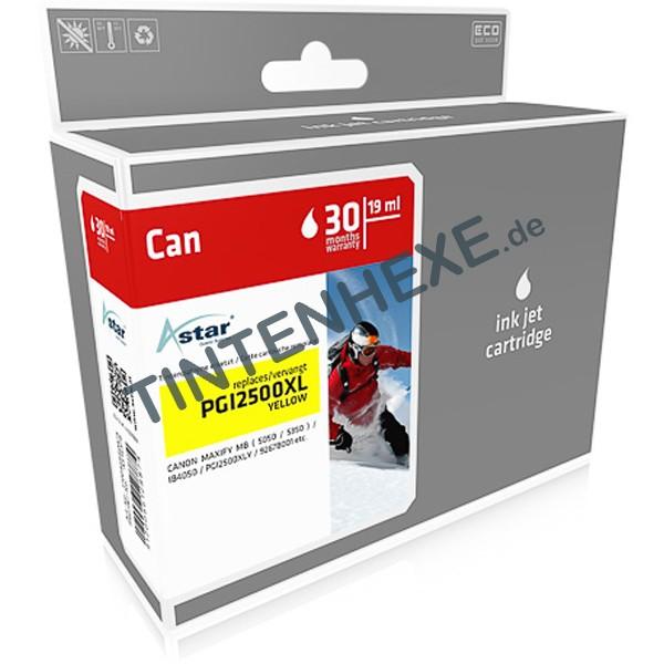ASTAR Tintenpatrone kompatibel zu Canon PGI-2500XL / 9267B001 Yellow