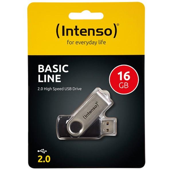USB-Stick 2.0 (16GB) Intenso 3503470 Basic Line Black