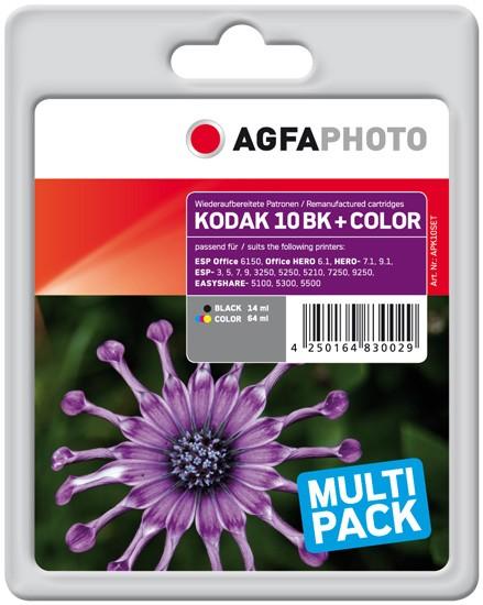 Sparpack! AGFAPHOTO Tintenpatronen kompatibel zu Kodak Nr.10 / 3949948 (2)