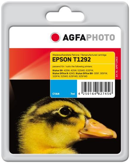 AGFAPHOTO Tintenpatrone kompatibel zu Epson T1292-C13T12924011 Cyan