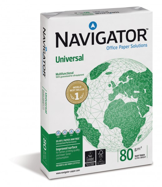Kopierpapier Navigator, DIN A3, 80g/qm, weiß, 500 Blatt