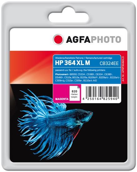 AGFAPHOTO Tintenpatrone Kompatibel zu HP 364XL / CB324EE Magenta