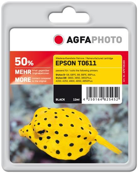 AGFAPHOTO Tintenpatrone kompatibel zu Epson T0611-C13T06114010 Black