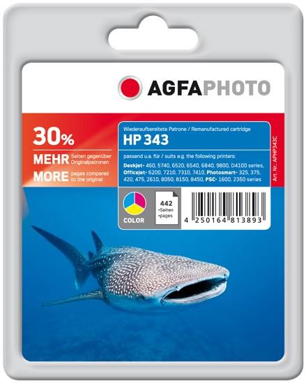 AGFAPHOTO Tintenpatrone kompatibel zu HP 343 / C8766EE Color (21ml)