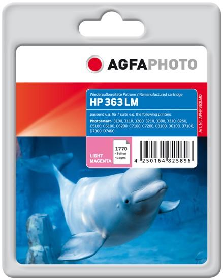 AGFAPHOTO Tintenpatrone Kompatibel zu HP 363 / C8775EE Light-Magenta