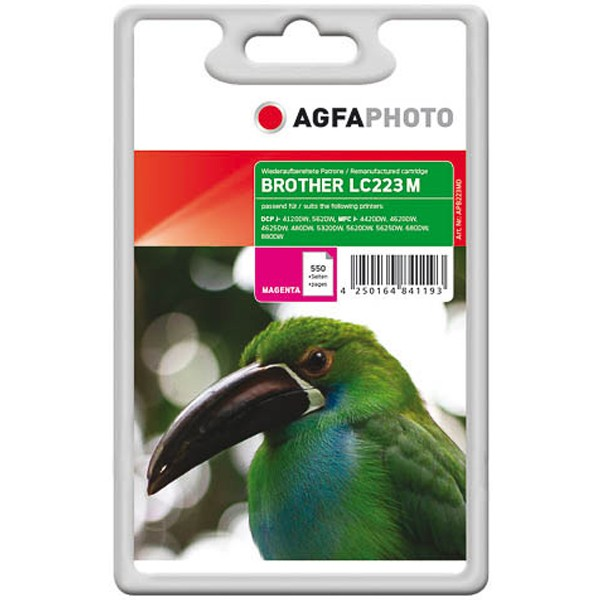 AGFAPHOTO Tintenpatrone kompatibel zu Brother LC223 Magenta