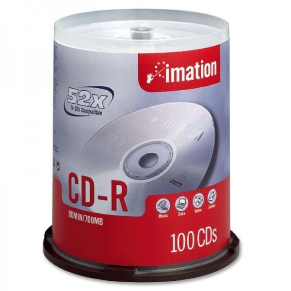 CD-R Imation 700MB 80Min.52x Spindel (100 Stck)