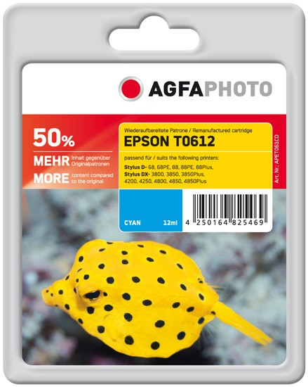AGFAPHOTO Tintenpatrone kompatibel zu Epson T0612-C13T06124010 Cyan