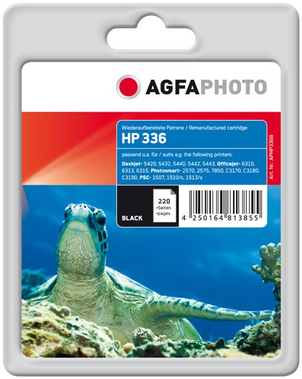AGFAPHOTO Tintenpatrone kompatibel zu HP 336 / C9362EE Black