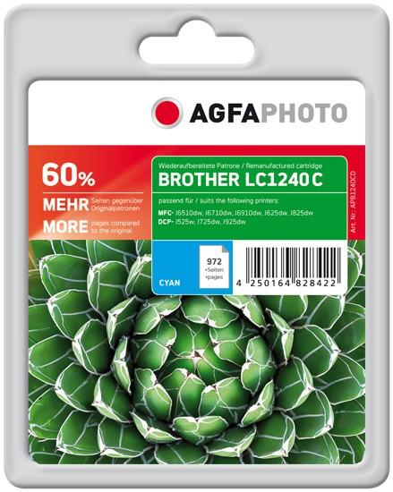 AGFAPHOTO Tintenpatrone kompatibel zu Brother LC1240 Cyan
