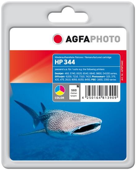 AGFAPHOTO Tintenpatrone kompatibel zu HP 344 / C9363EE Color (21ml)