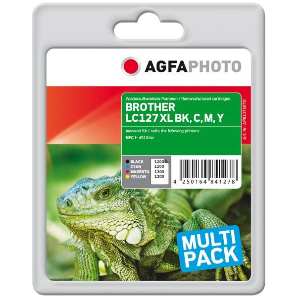 Sparpack! AGFAPHOTO Tintenpatronen kompatibel zu Brother LC127XL-LC125XL LC127XLVALBPDR (4)