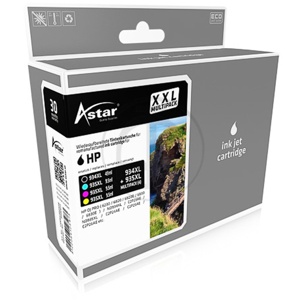 Multipack! ASTAR Tintenpatronen kompatibel zu HP 934XL-HP 935XL X4E14AE (4)