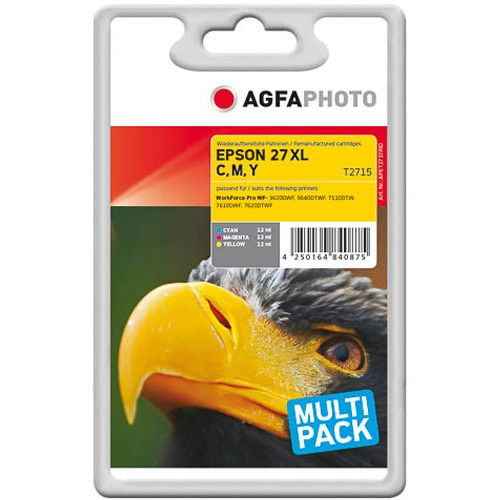 Sparpack! AGFAPHOTO Tintenpatronen kompatibel zu Epson 27XL-T2715-C13T27154012 (3)