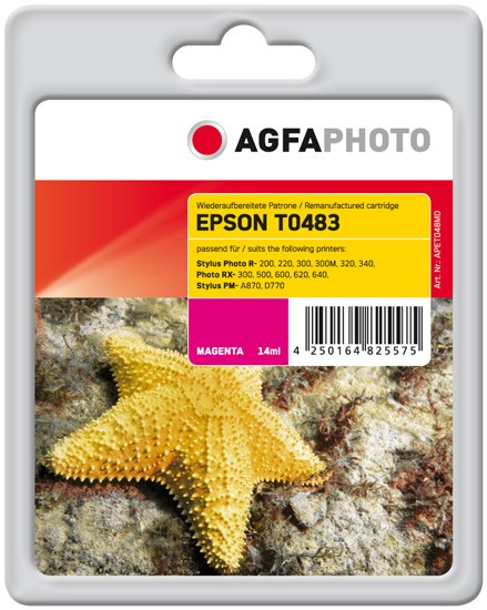 AGFAPHOTO Tintenpatrone kompatibel zu Epson T0483-C13T04834010 Magenta