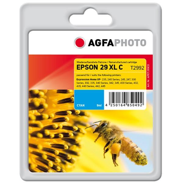 AGFAPHOTO Tintenpatrone kompatibel zu Epson 29XL / T2992 / C13T29924012 Cyan