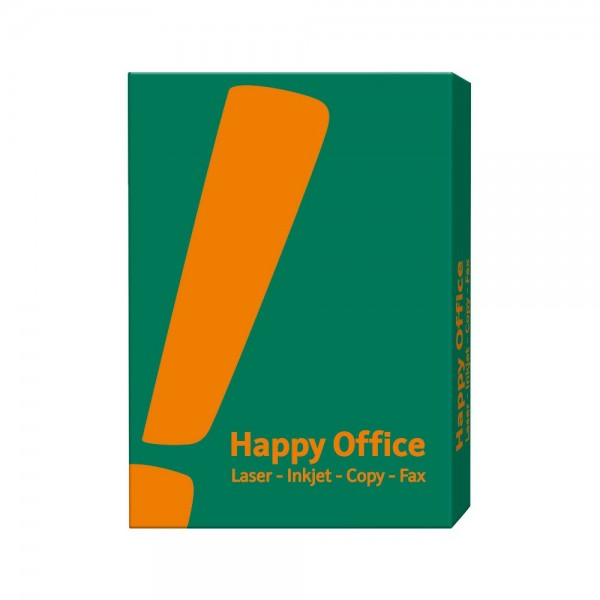 Kopierpapier Happy Office, DIN A4, 80g/qm, weiß, 500 Blatt