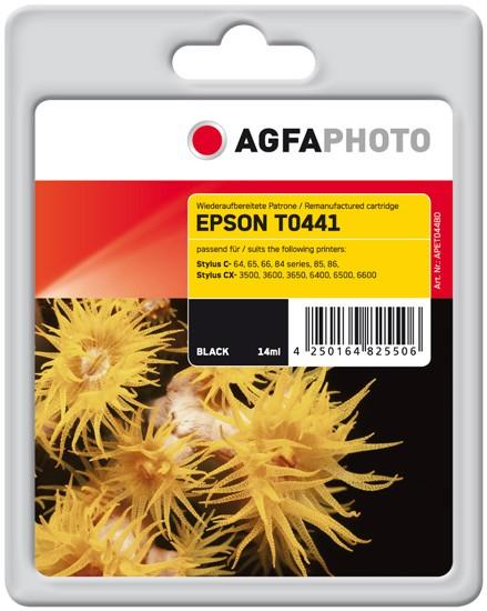 Original AGFAPHOTO Tintenpatrone kompatibel zu Epson T0441-C13T04414010 Black