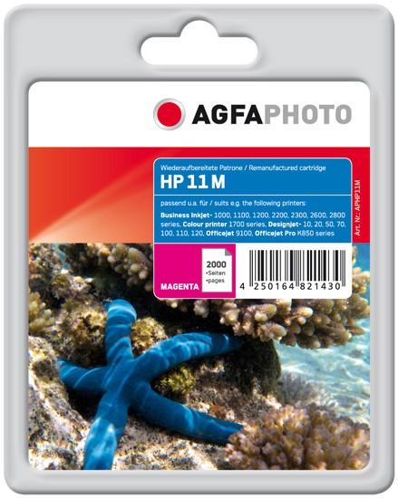 AGFAPHOTO Tintenpatrone Kompatibel zu HP11 / C4837A Magenta