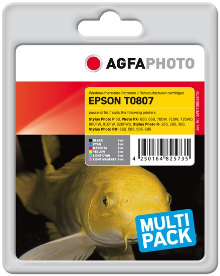 Sparpack! AGFAPHOTO Tintenpatronen kompatibel zu Epson T0807-C13T08074011 (6)