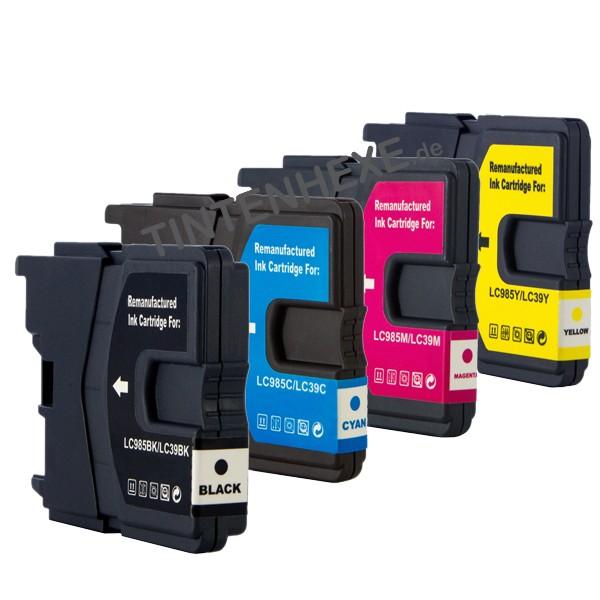 Multipack! Rebuilt Tintenpatronen kompatibel zu Brother LC985VALBPDR LC985 (4)