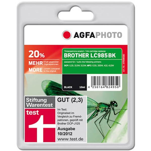 AGFAPHOTO Tintenpatrone kompatibel zu Brother LC985BK Black