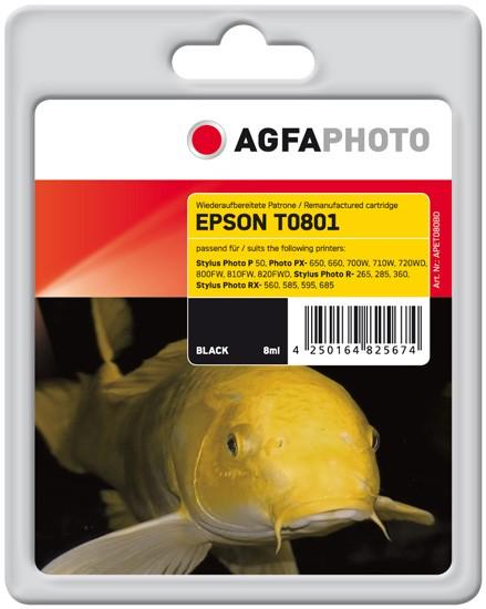 AGFAPHOTO Tintenpatrone kompatibel zu Epson T0801-C13T08014011 Black
