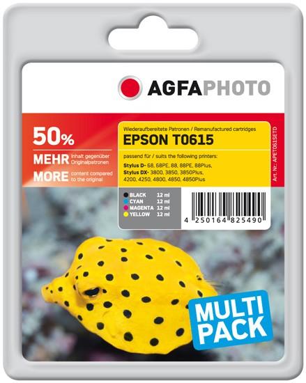 Sparpack! AGFAPHOTO Tintenpatronen kompatibel zu Epson T0615-C13T06154010 (4)