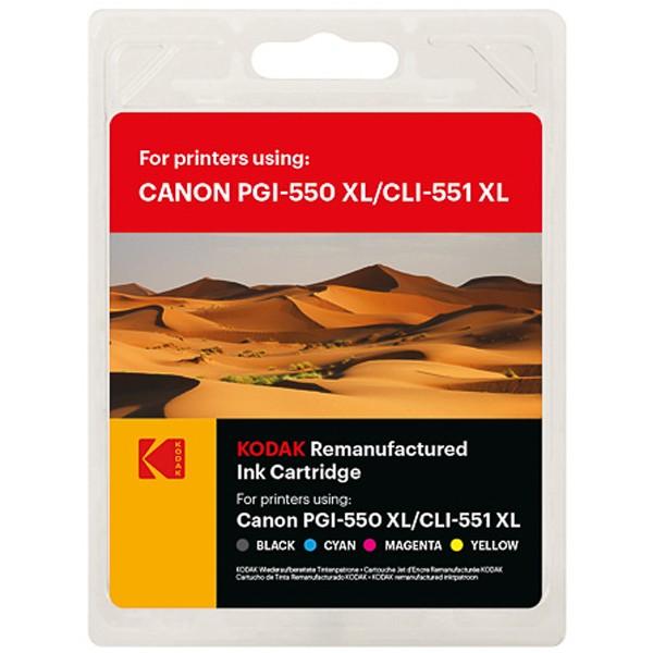 Sparpack! Kodak Tintenpatronen kompatibel zu Canon PGI-550XL CLI-551XL (5)