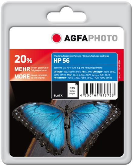 AGFAPHOTO Tintenpatrone kompatibel zu HP 56 / C6656AE Black (635 S.)