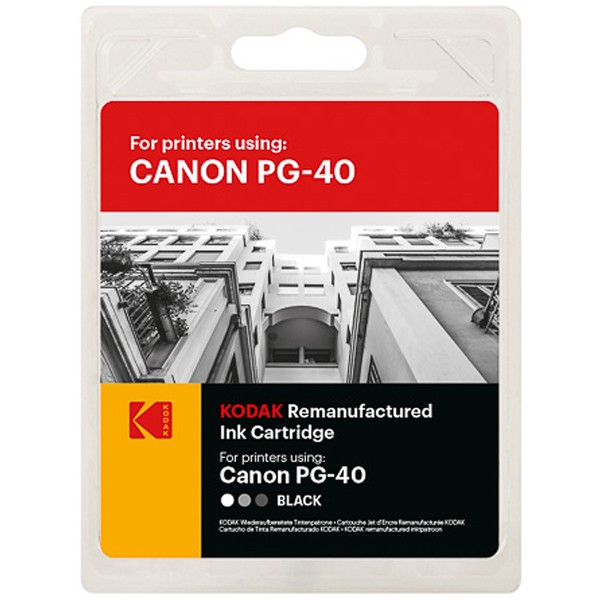 KODAK Tintenpatrone Kompatibel zu Canon PG-40 0615B001 Black (26ml, 490 S.)