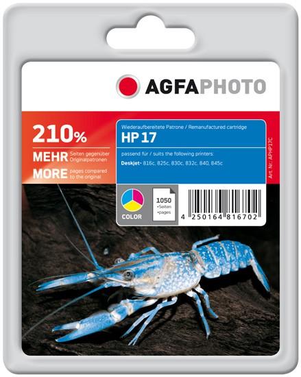 AGFAPHOTO Tintenpatrone kompatibel zu HP 17 XL / C6625A Color