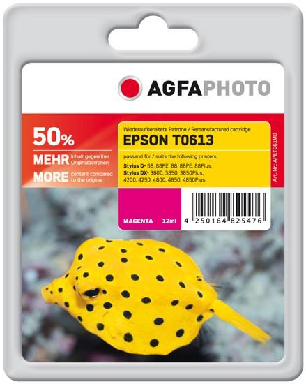 AGFAPHOTO Tintenpatrone kompatibel zu Epson T0613-C13T06134010 Magenta