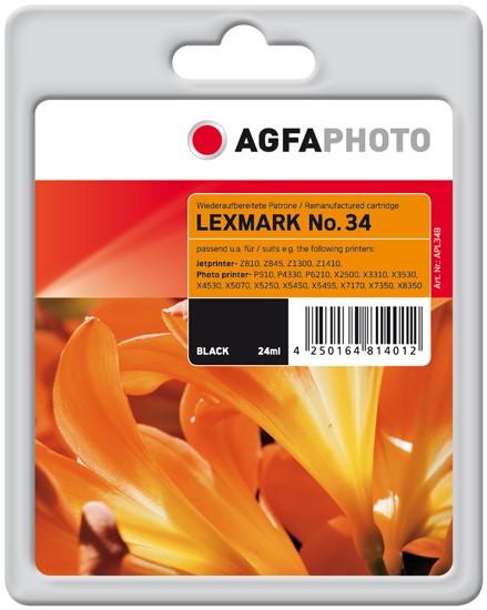 AGFAPHOTO Tintenpatrone Kompatibel zu Lexmark 34XL / 18C0034E Black