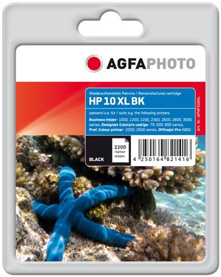 AGFAPHOTO Tintenpatrone Kompatibel zu HP10 / C4844AE Black