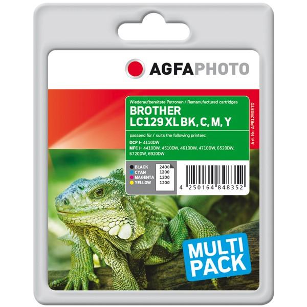 Multipack! AGFAPHOTO Tintenpatronen kompatibel zu Brother LC129XL LC125XL (4)