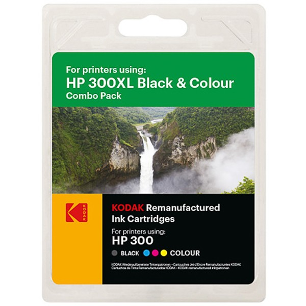 Multipack! Kodak Tintenpatronen kompatibel zu HP 300XL Black+Color (520+620 S.)