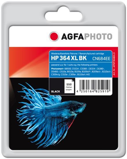 AGFAPHOTO Tintenpatrone Kompatibel zu HP 364XL / CN684EE Black