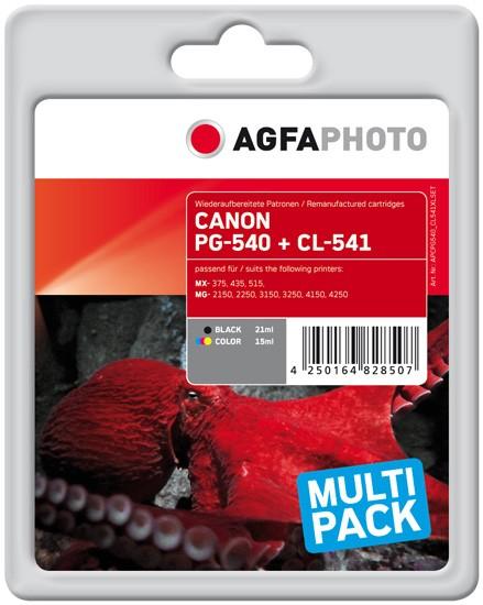 Multipack! AGFAPHOTO Tintenpatronen Kompatibel zu Canon PG-540XL/CL-541XL / 5222B013 (2)