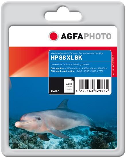 AGFAPHOTO Tintenpatrone kompatibel zu HP 88XL / C9396AE Black