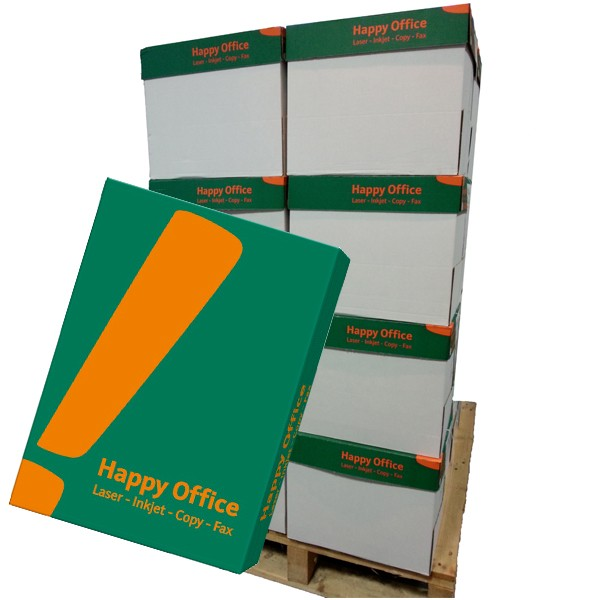 Kopierpapier Happy Office, DIN A4, 80g/qm, weiß, 100.000 Blatt