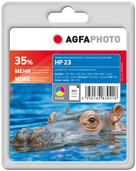 AGFAPHOTO Tintenpatrone kompatibel zu HP 23XL / C1823GE Color