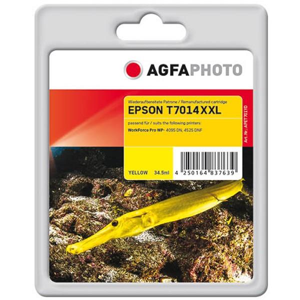 AGFAPHOTO Tintenpatrone kompatibel zu Epson T7014 XXL - C13T70144010 Yellow