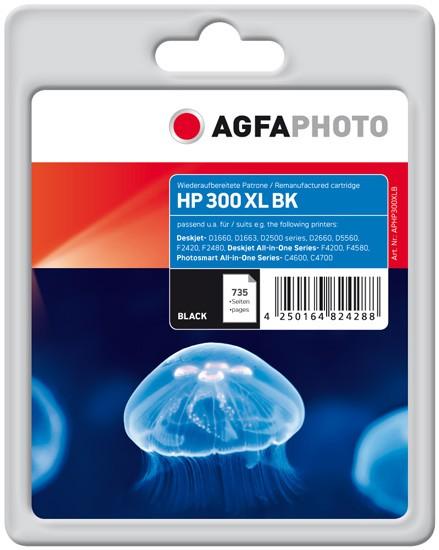 AGFAPHOTO Tintenpatrone kompatibel zu HP 300XL / CC641EE Black (23,5ml)