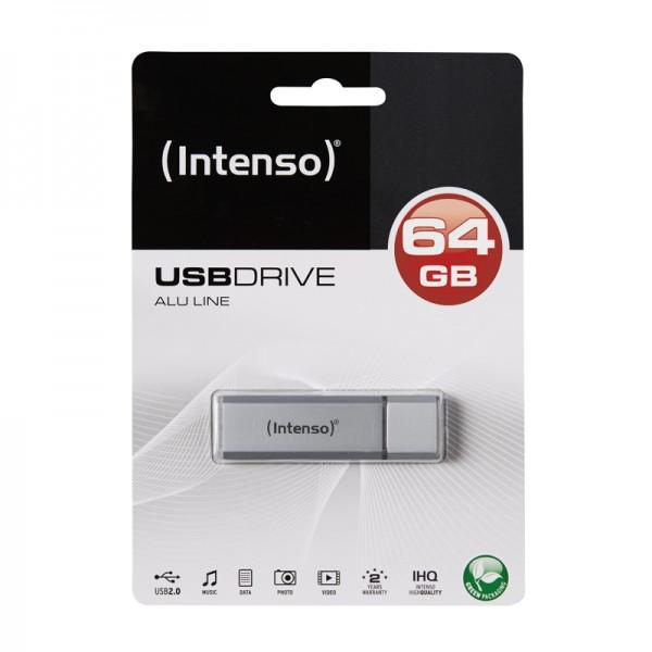 USB-Stick 2.0 (64GB) Intenso 3521492 Alu Line Silver