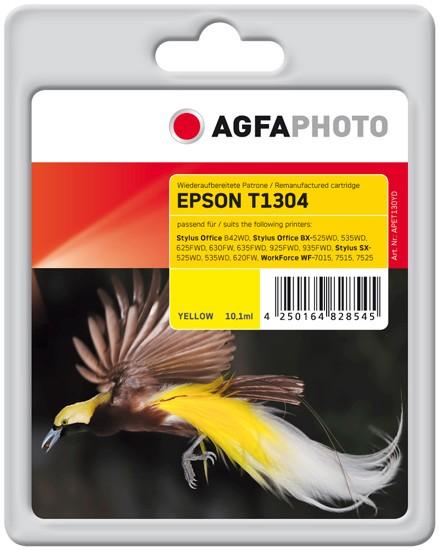 AGFAPHOTO Tintenpatrone Kompatibel zu Epson T1304 C13T13044012 Yellow (1.005 S.)