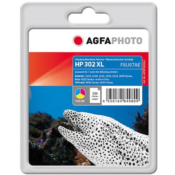 AGFAPHOTO Tintenpatrone kompatibel zu HP 302XL F6U67AE Color (15ml)